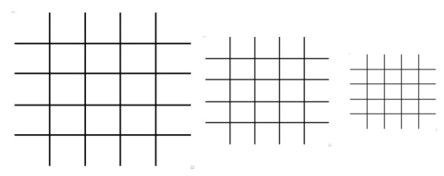 Figure 5: A single-layer lattice test can be completed with lattices of varying sizes as depicted above. This calibration test serves as a check for optimized print parameters.