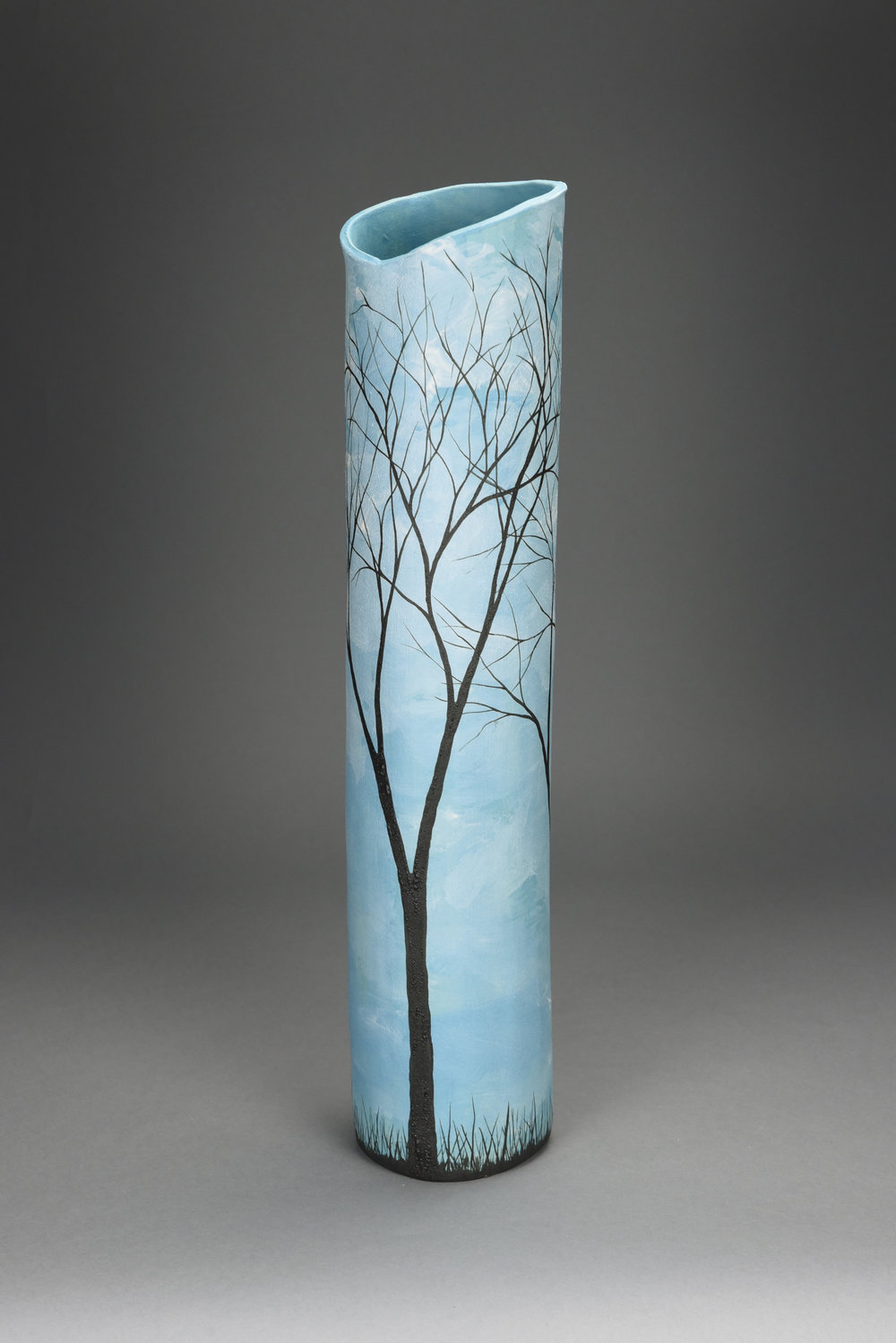 Winter Trees - Tall Vase