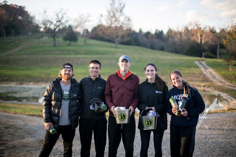 Top Male and Female (Photo by Kelly Hieronymus):   From Left to Right: Drew Castle, Craig Calvert, Justin Agler, Kaitlin Snapp, Nichole Shafer, (Not Pictured: Beth Shields)