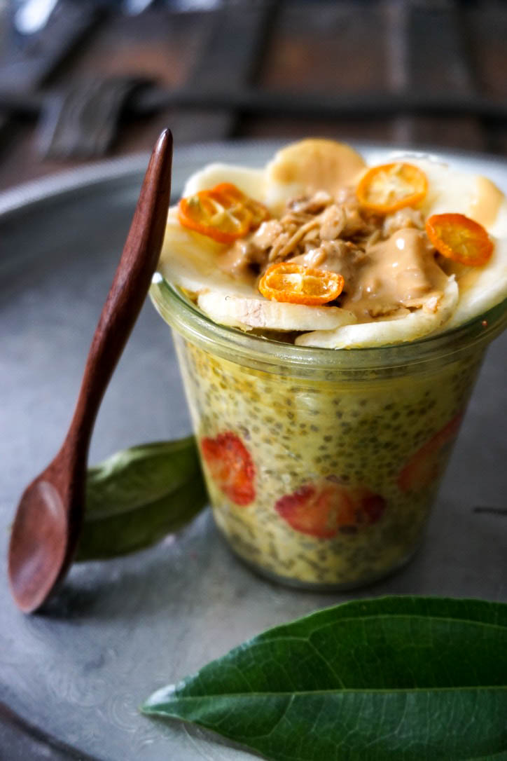 TURMERIC OVERNIGHT OATS -  TURMERIC OVERNIGHT OATSOvernight oats have truly transformed my morning routine - If you didn't already know, I'm NOT a morning person - I usually wake up starved but NOT hungry (awesome combination) so Overnight Oat and Chia Puddings have been saviors for my mornings! I hope you enjoy my go-to tag-a-long breakfast!