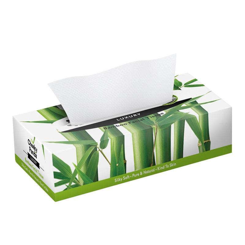 LUXURY BAMBOO FACIAL TISSUE - Facial tissue made from 100% sustainable natural bamboo