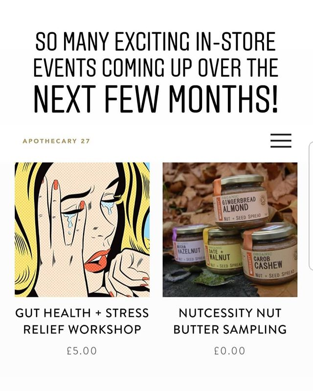 Head on over to our website to reserve a space in one of our upcoming store events today! Swipe left to see more 👆. . Alternatively tickets can be bought in store.