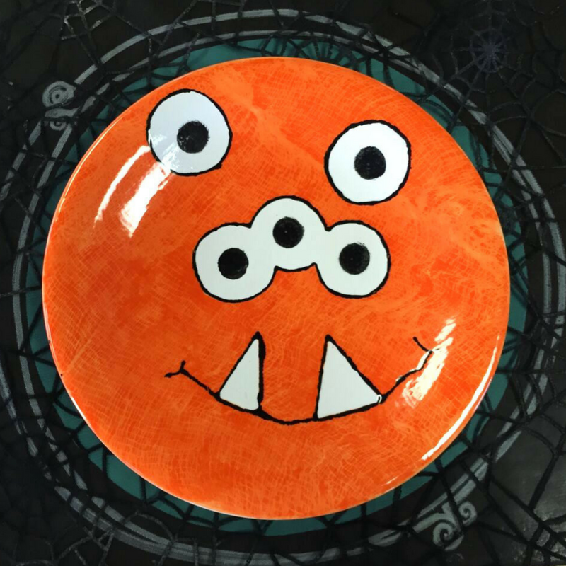 CERAMIC MONSTER DINNER PLATE