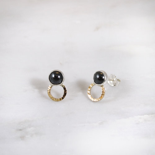 black collection tone shop earrings beadage bronze hematite
