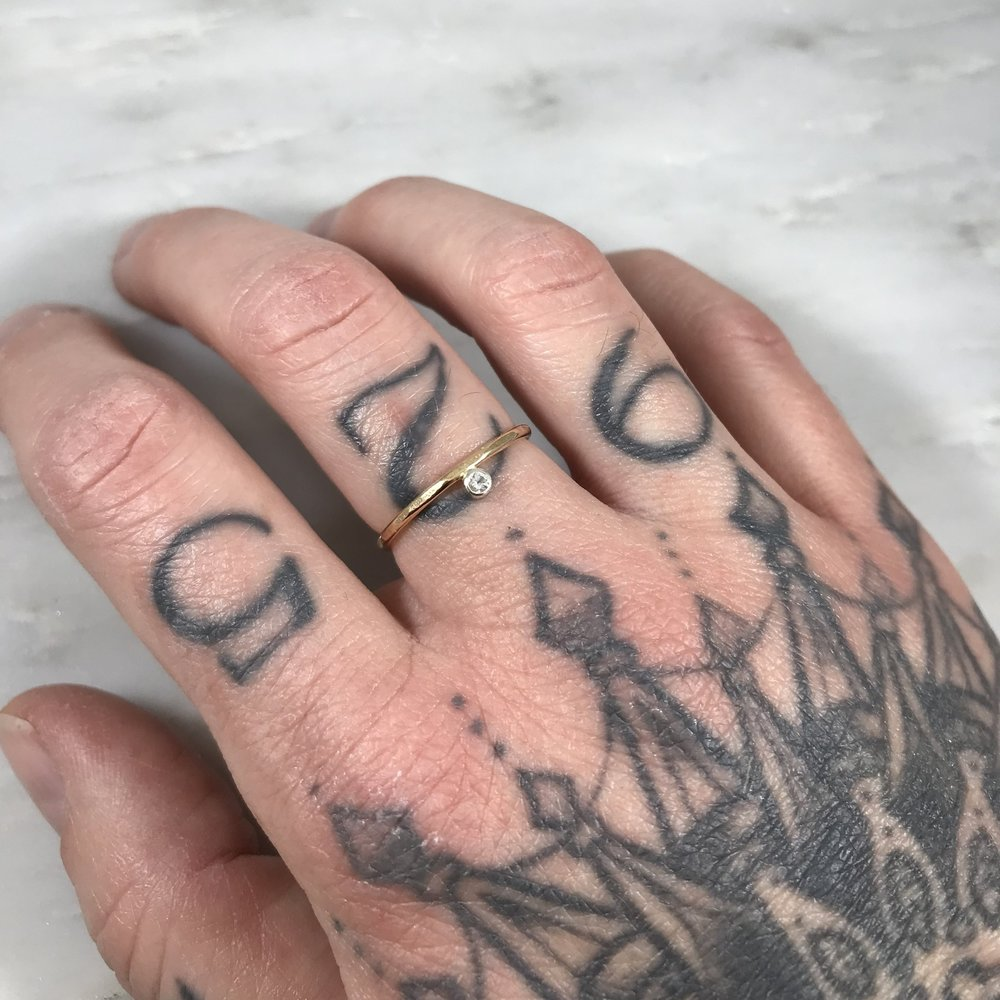 White Topaz Ring — Bon Fire Craft
