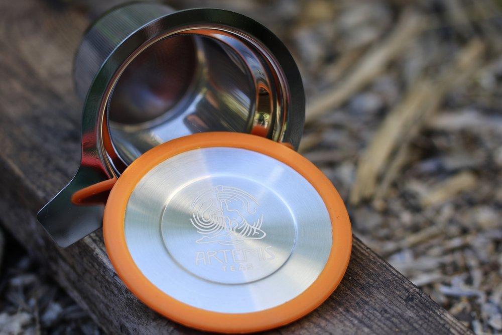 Artemis Teas Stainless Steel Brew-in-Mug Tea Strainer