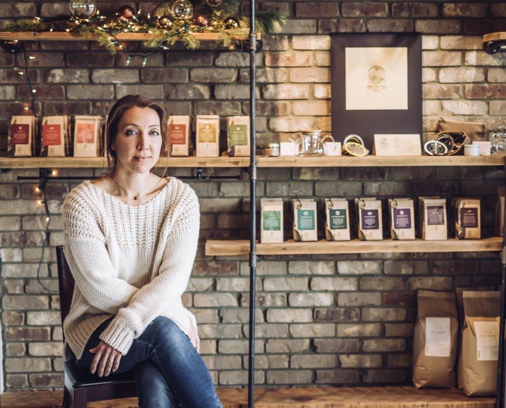 Andrea Lawse, Chief Tea Artisan and CEO of Artemis Teas & Botanicals