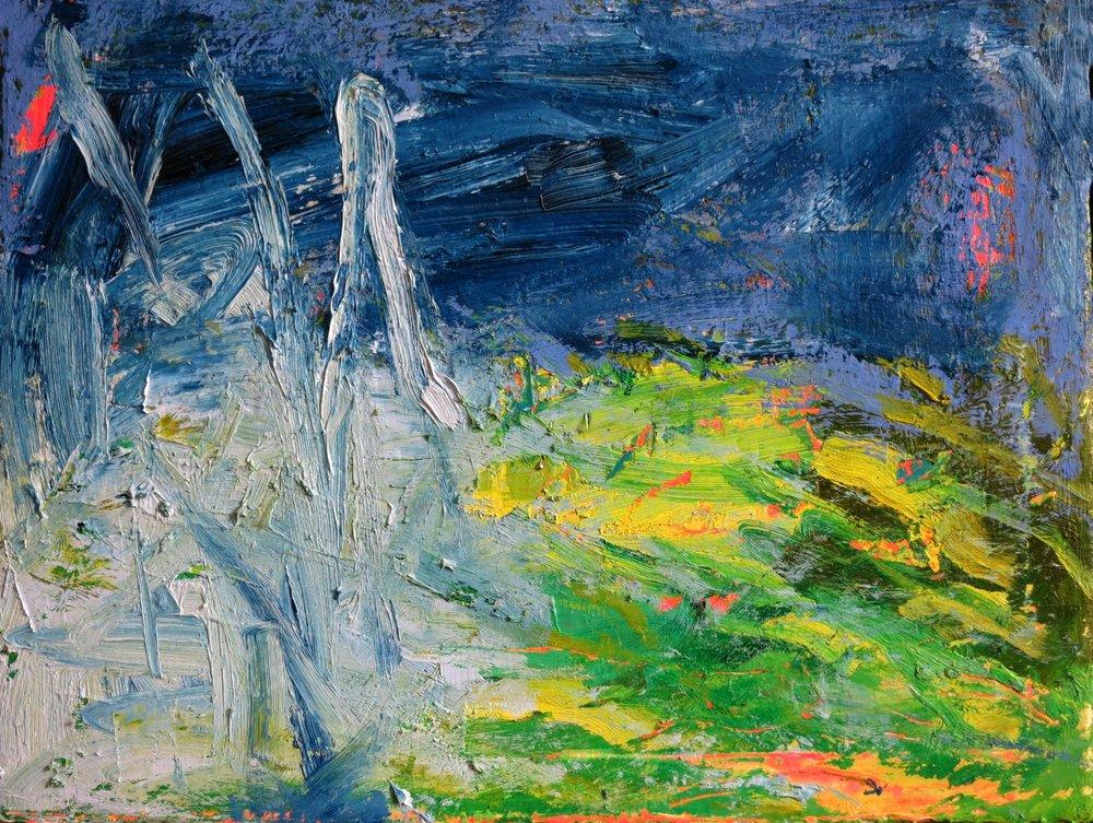 """""""vår"""" 12""""x16"""" Oil on canvas"""