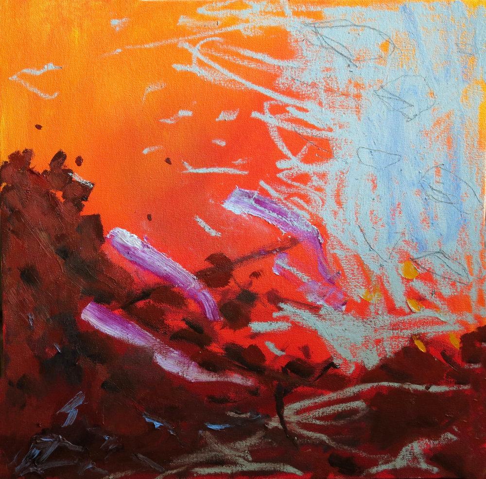 """Dissonance III"" 20""x20"" Oil on canvas"