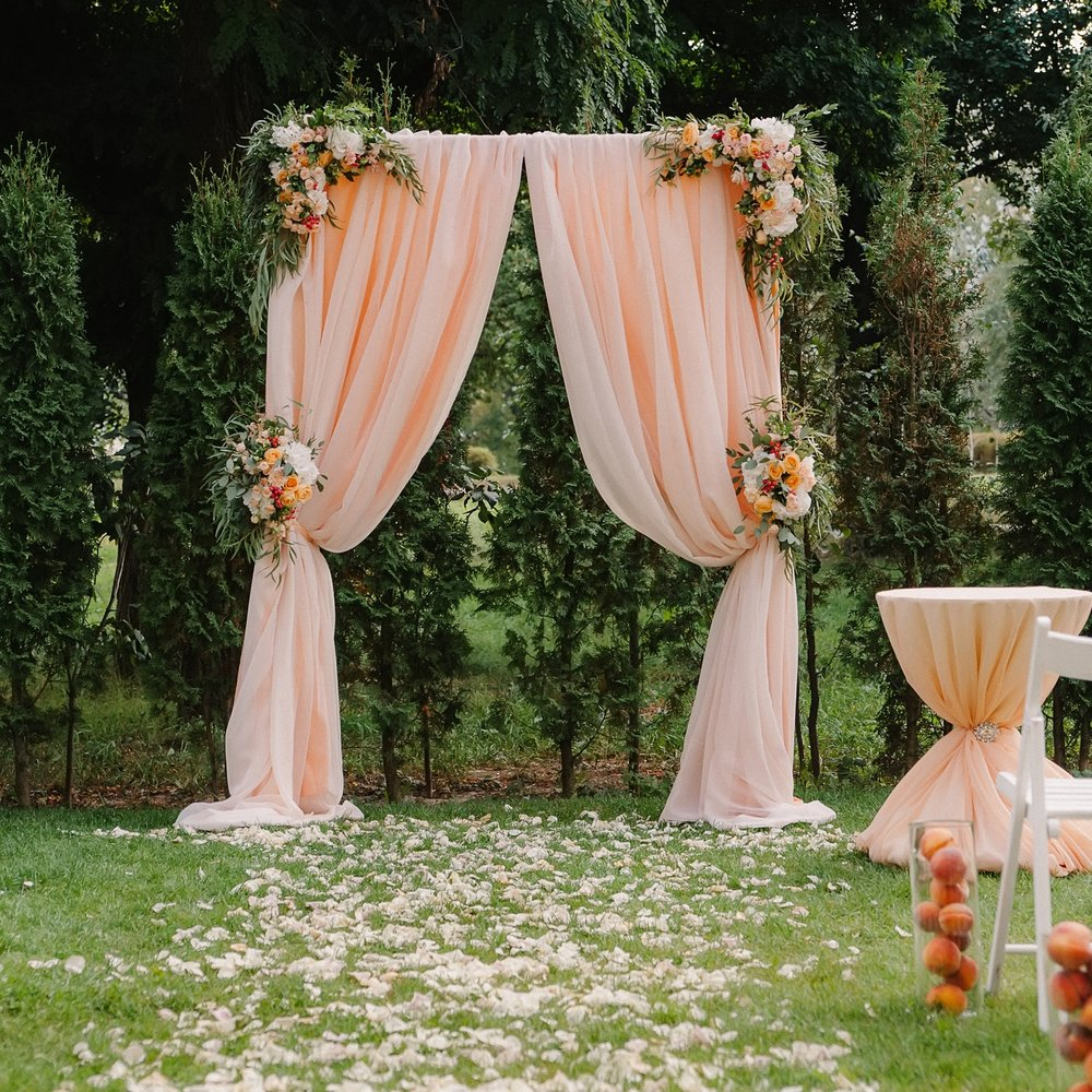 Backdrops and arches for hire at wedding and events