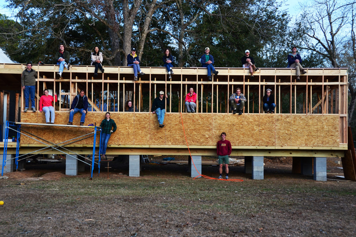 Along with farming, students learn to collaborate on designing and building projects.