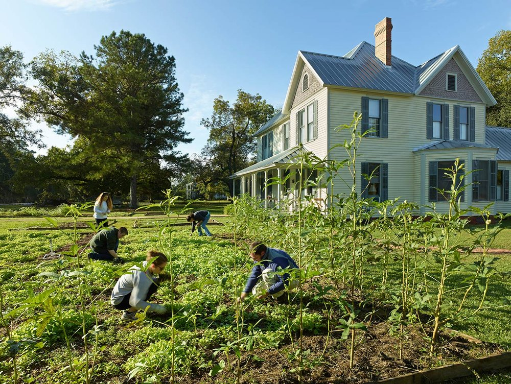 """Students to the """"Studio's"""" farm, part of the larger learning environment of program"""