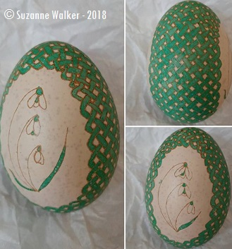Snowdrops - This egg was a brown egg before I etched it. I'll share more about etching in a later post.
