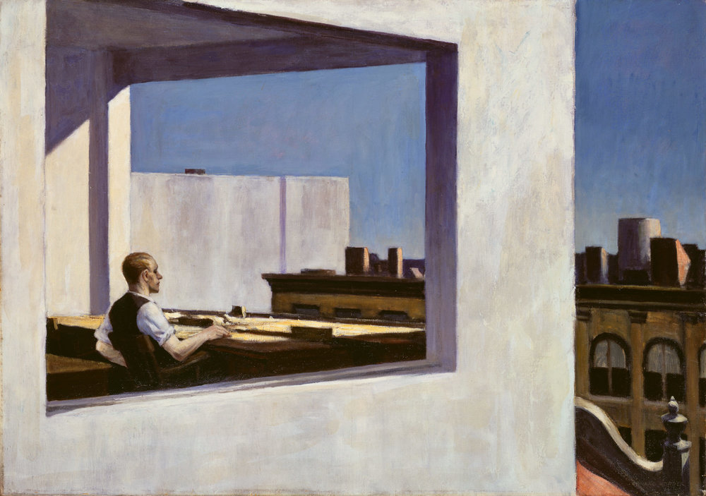 Office in a Small City by Edward Hopper, 1953