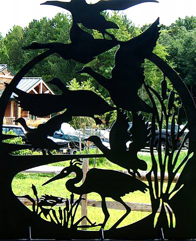 Assunpink Wildlife Preserve, Gateway Sculptures, detail