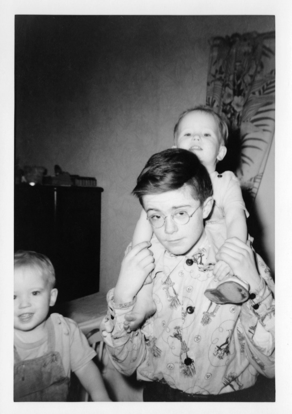 Doug with twin toddlers b&w.jpg