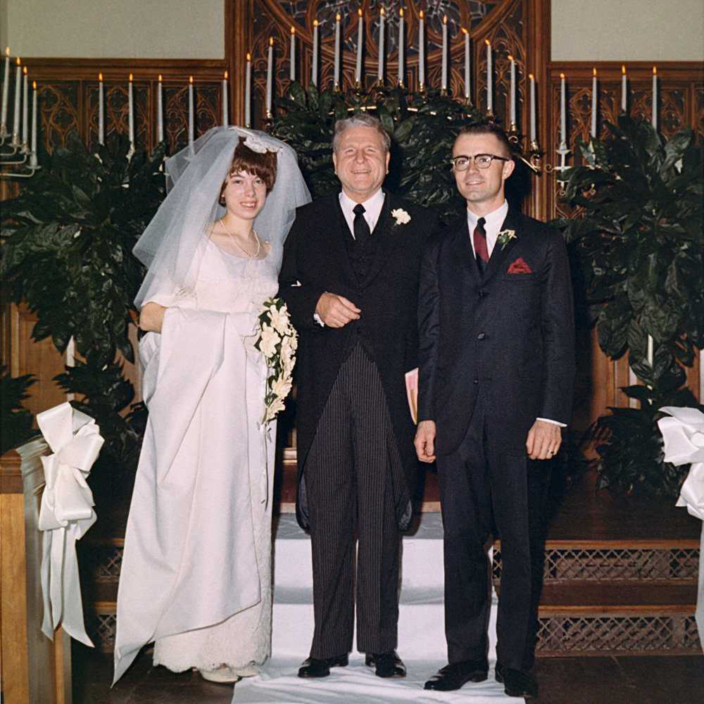 Doug & Detra were married by Dr W. A. Criswell (centre)
