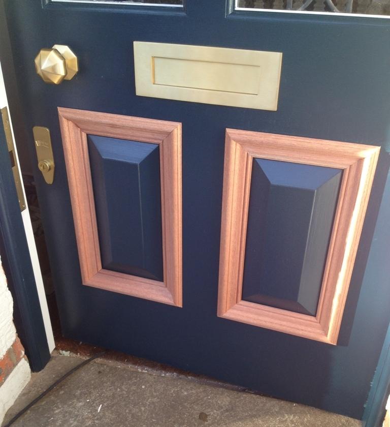 Panel detail on a door
