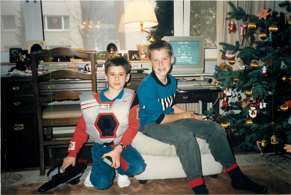 Germany with my good friend Luke, who I have not been able to track down since.  Check out the the Commodore 128 in the background!