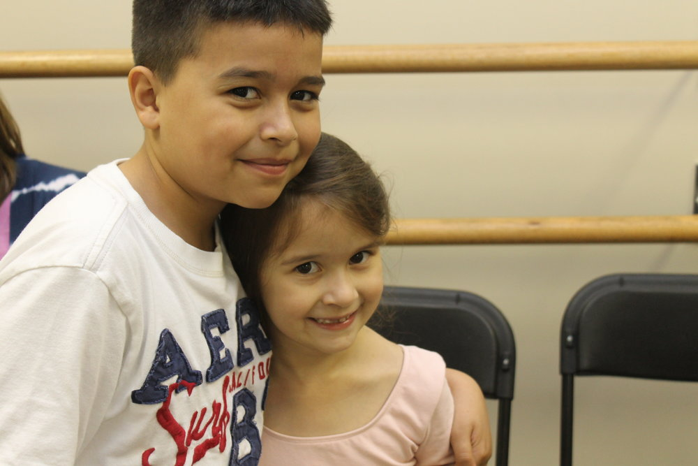 Adrian and Alondra after a ballet class that Alondra was taking.