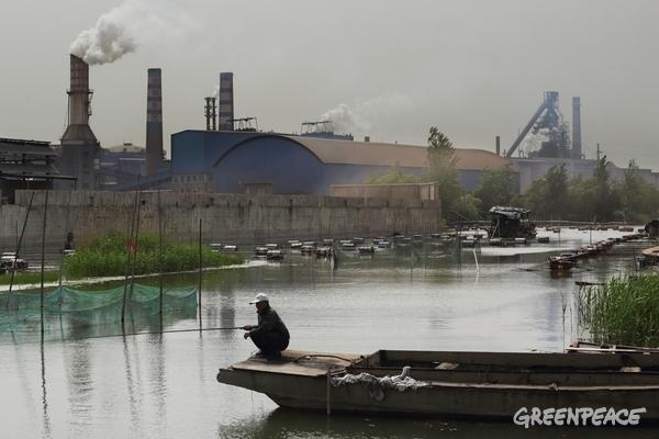 Xuzhou Steel Group's steel plant is located near Weishan Lake, China, 4 May, 2015