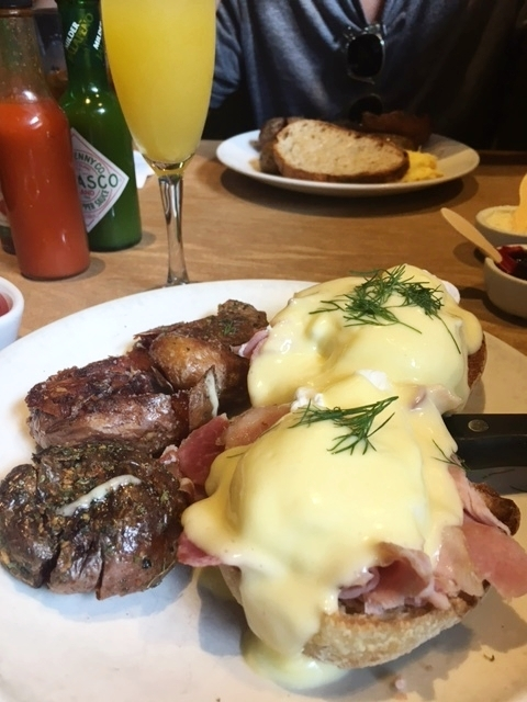 """Eggs Benedict"" which I highly recommend if you ever get a chance to go to Lola!"