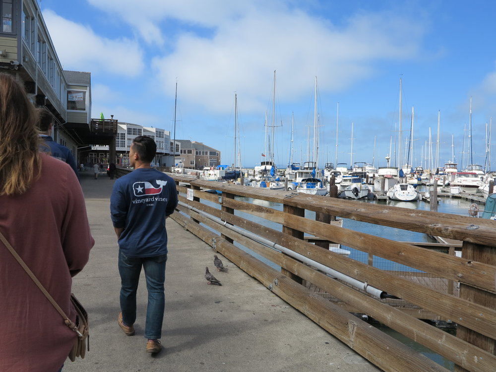 We walked around the Marina near Pier 39.