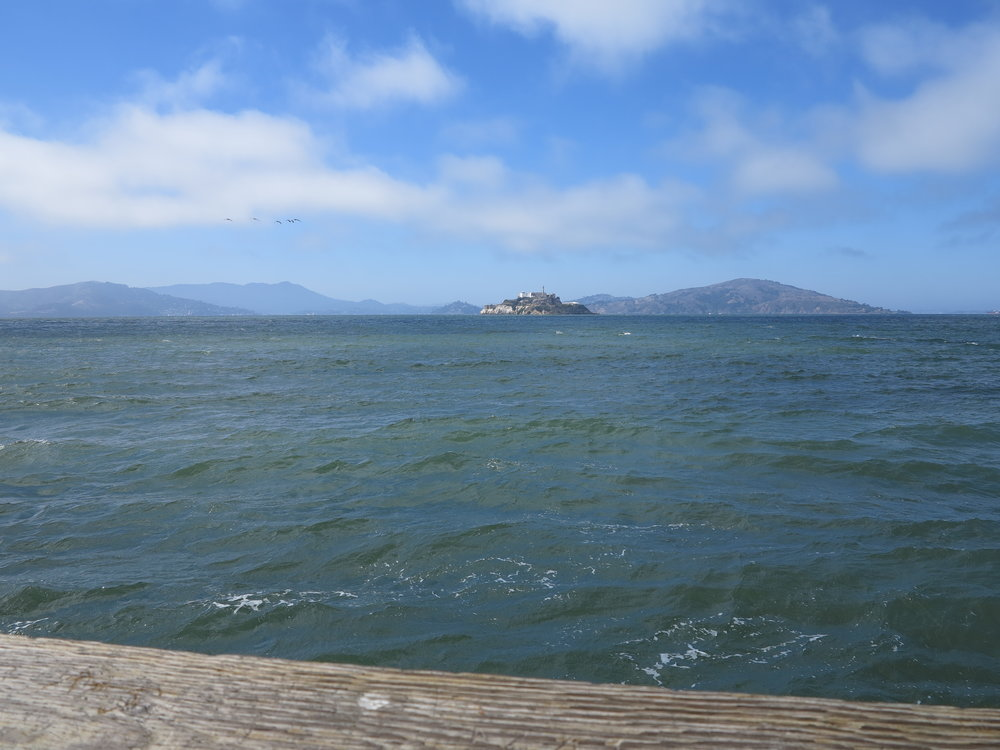 View of Alcatraz from the pier.