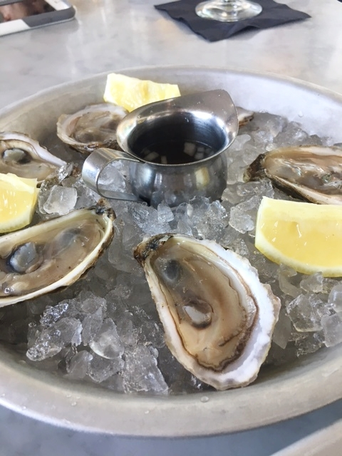Local oysters from Franciscan Crab Restaurant.