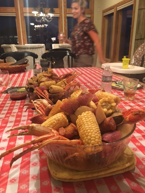 Crab boil feast....YUM