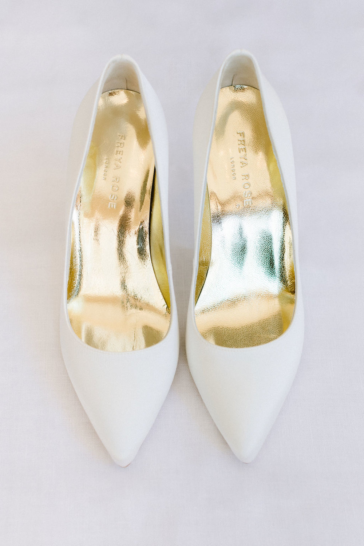 """Freya Rose Chelsea Ivory Heels"""