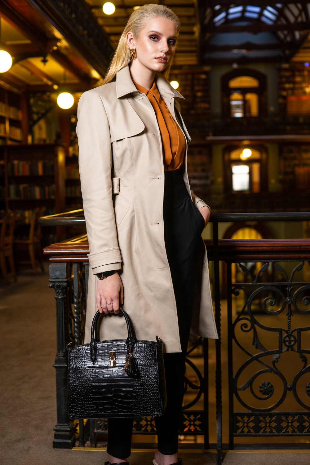Sunday Mail , Fashion with Mirella , Office   Chic at the Mortlock Library Adelaide. Photo: Nick Clayton