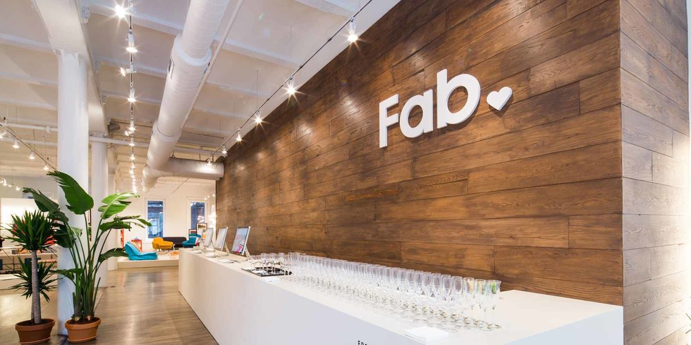 Fab SOHO Showroom   Client: Fab  2014  Clabots collaborated with PJ Matan and Kiel mead to design the Fab Pop-up Store in SOHO for the debut of their #happymodern collection in May of 2014.