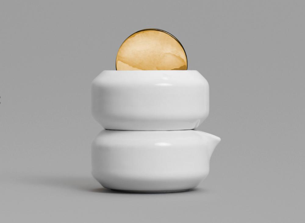 Kyou Sugar Bowl & Creamer   designed by Todd Bracher