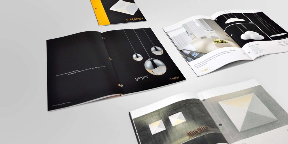 Client: Sonneman   Art Direction, Catalog Design