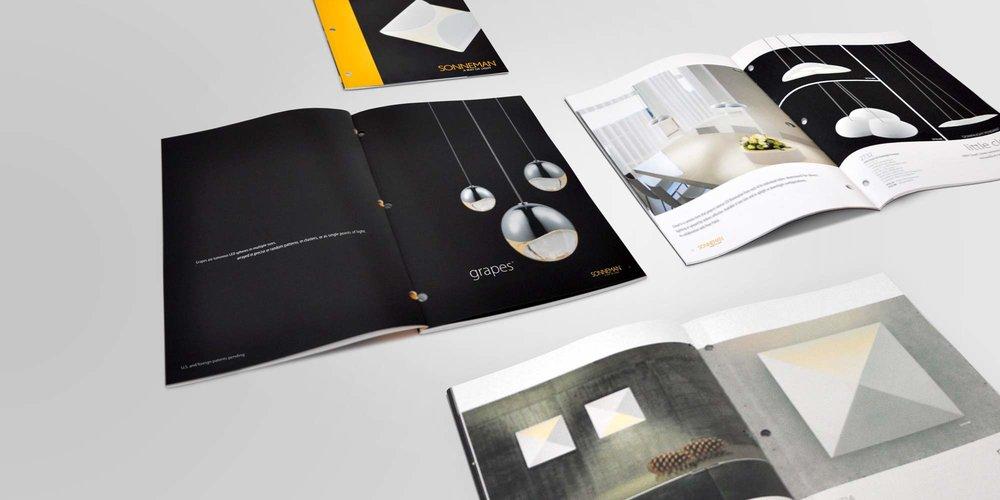 Client: Sonneman   Art Direction, Catalog Design