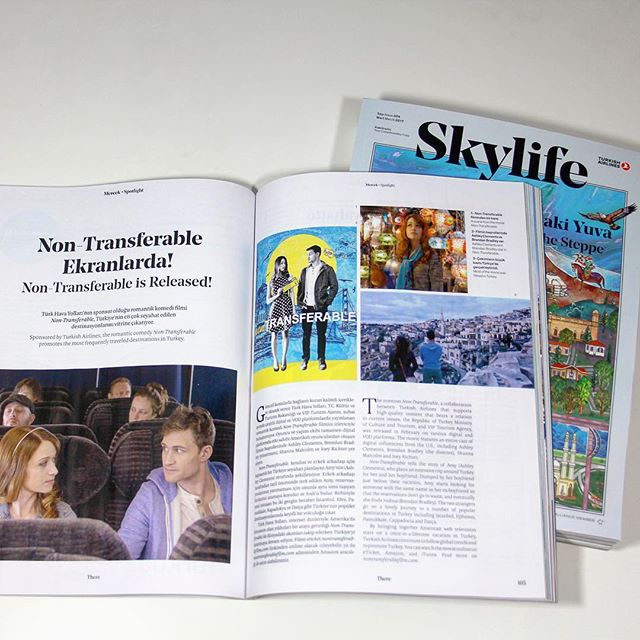 Read about #NonTransferableFilm partnership with @turkishairlines @turkey_home in latest @skylifemagazine!
