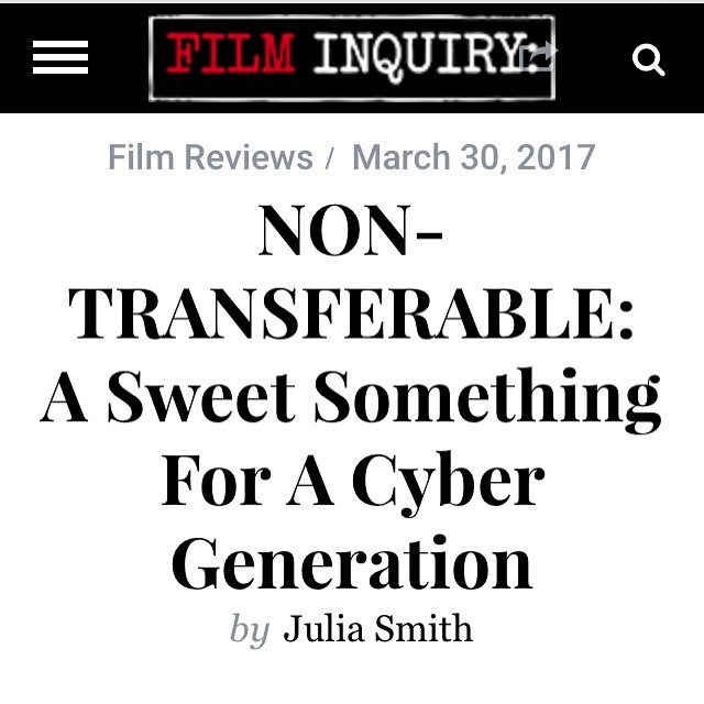 Thank you @filminquiry for an in depth review of #nontransferablefilm! https://www.filminquiry.com/non-transferable-2017-review/