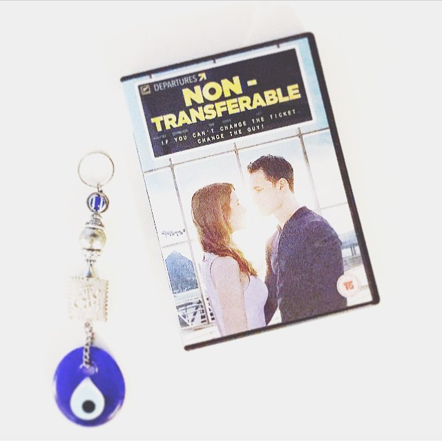 DVD came in the mail!!!! WE MADE THIS!!! Stills getting used to the UK poster...now we just need a Region2 player 😂 #nonTRANSFERABLEfilm #filmmaking #featurefilm #firstfeature #dvd #indiefilm #distribution #turkey #romcom #lovestory