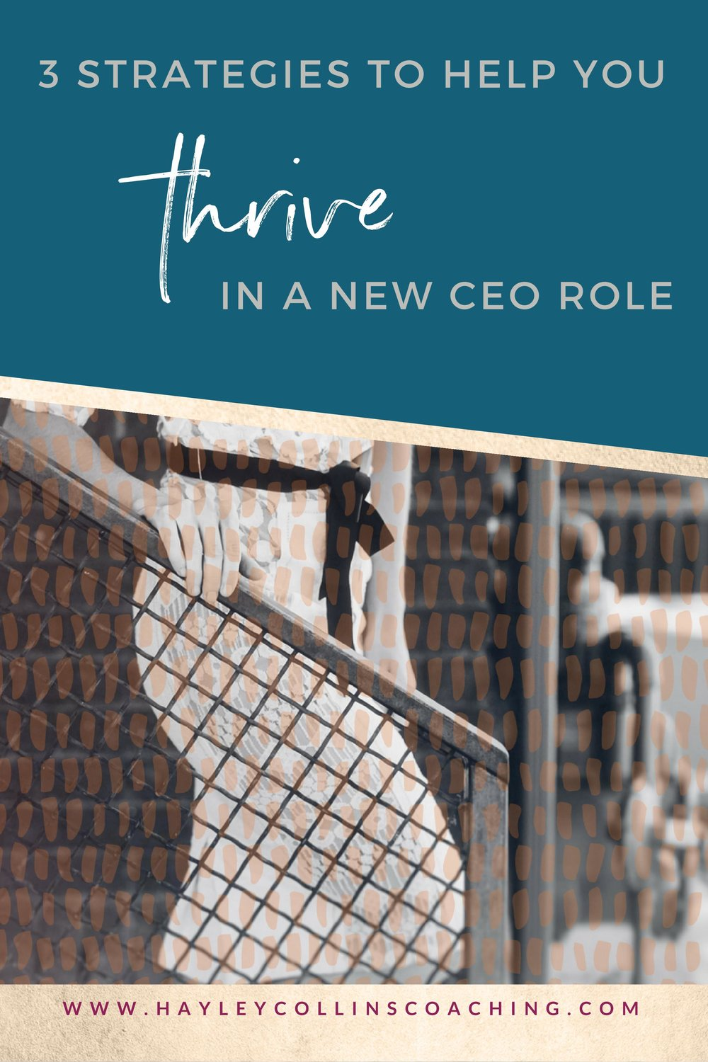 3 Success strategies for brand new CEOs who feel in over their head. Hayley Collins Coaching.