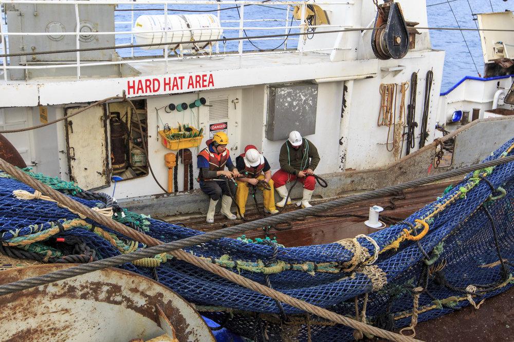 Otakou crew splicing rope