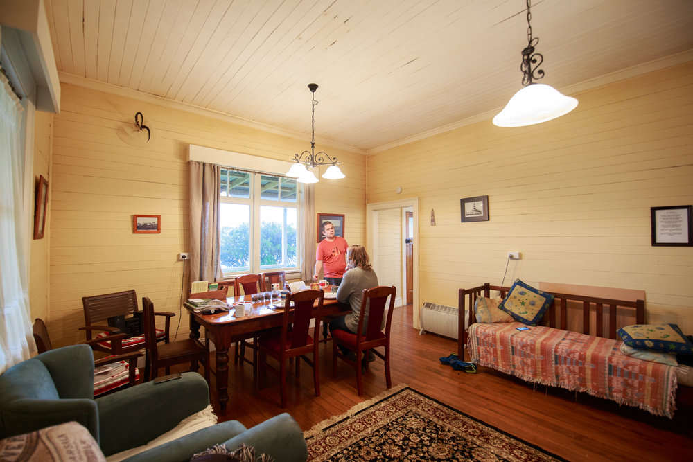 Inside the keepers cottage.