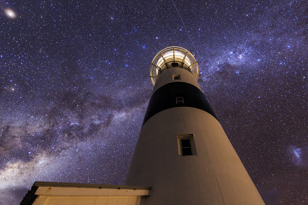 The lighthouse under the milky way.