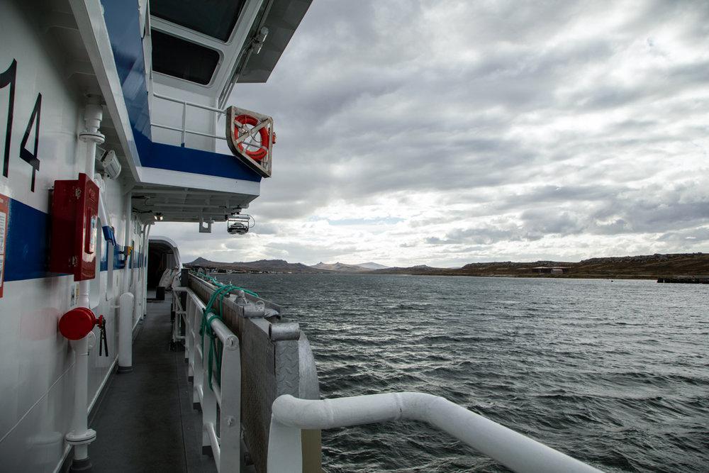 Argos Georgia leaving the Falkland Islands
