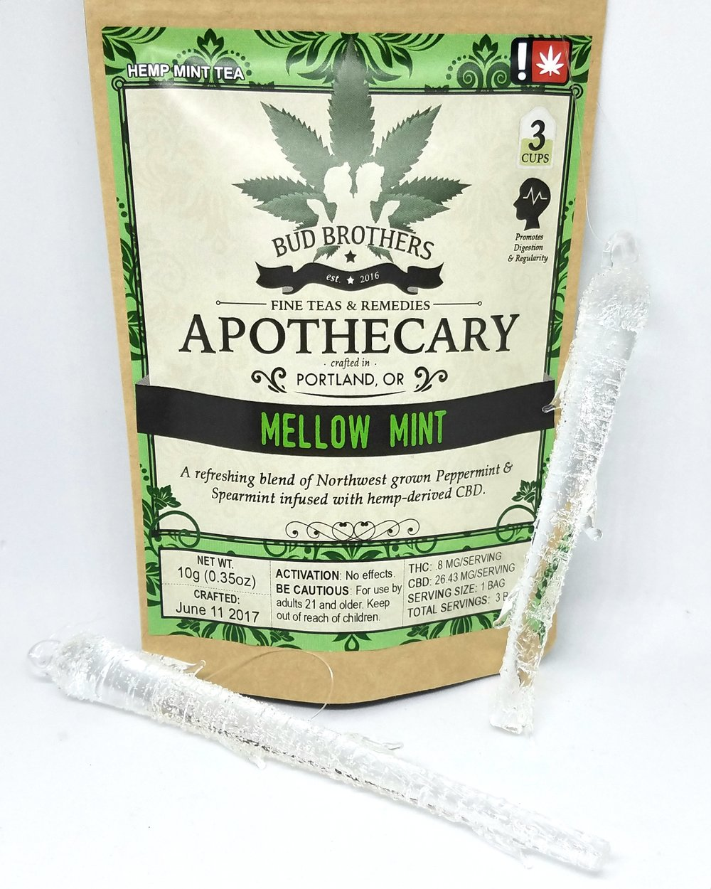 Mellow Mint CBD Tea made by Bud Brothers Apothecary