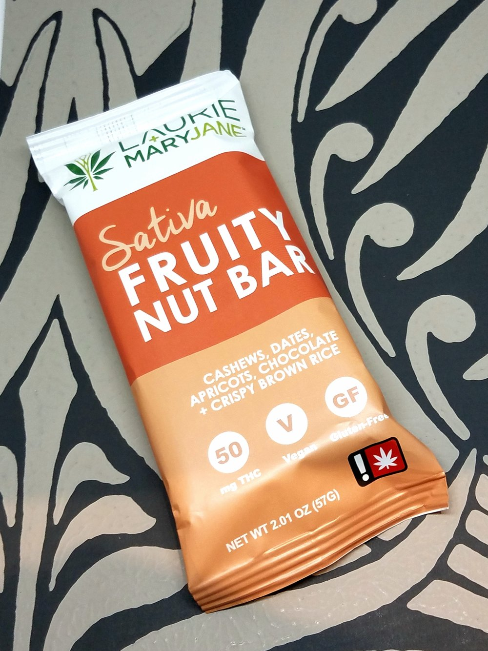 Sativa Fruity Nut Bar produced by Laurie + MaryJane