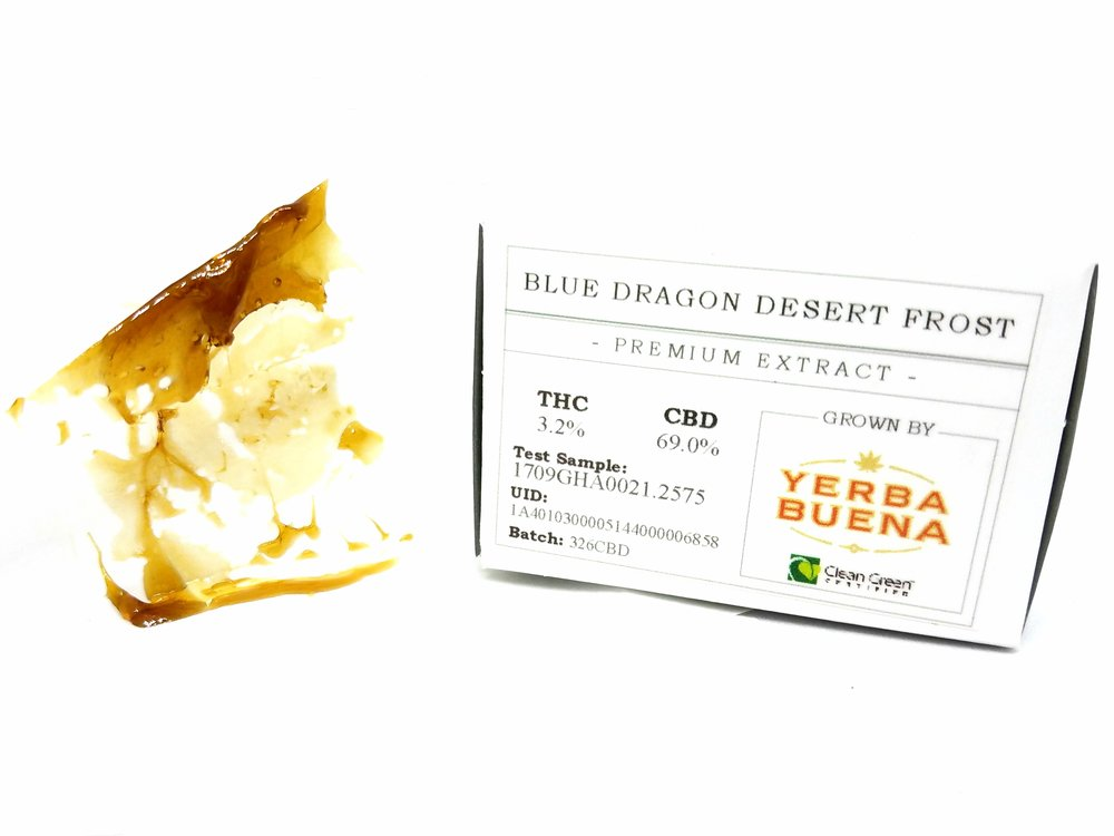 Blue Dragon Desert Frost extract produced by Dab Society from flower by Yerba Buena
