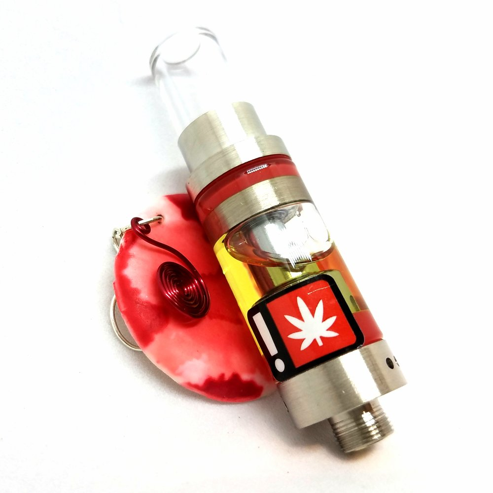 Strawberry Cough 1g distillate cartridge produced by Orchid Essentials
