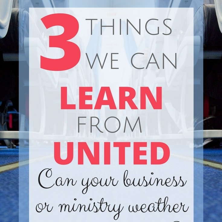 Three Lessons We Can Learn from United