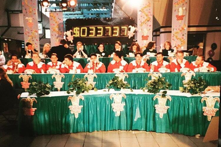 Raising money for Easterseals on TV - 1994